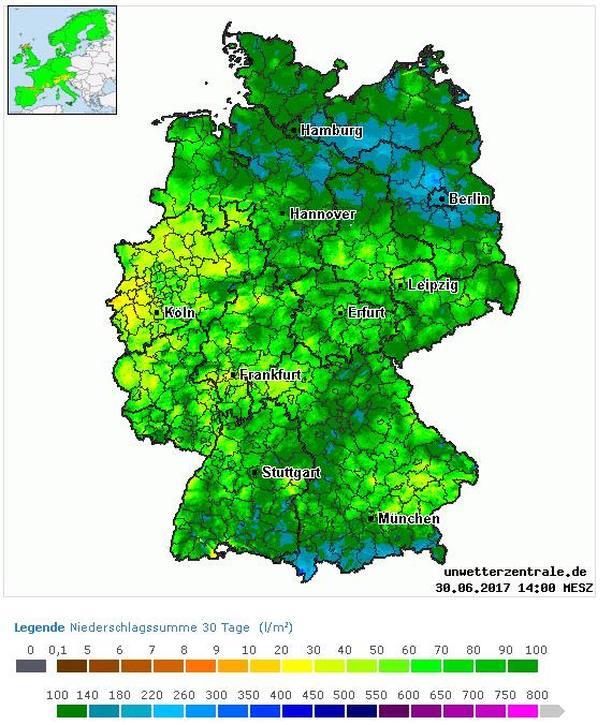 regentage 2017 deutschland