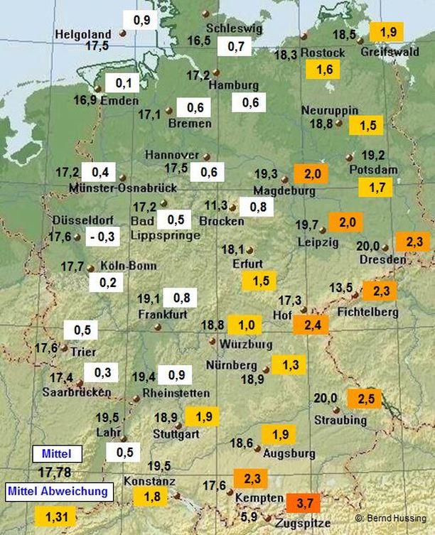 niederschlagsmengen in deutschland rückblick