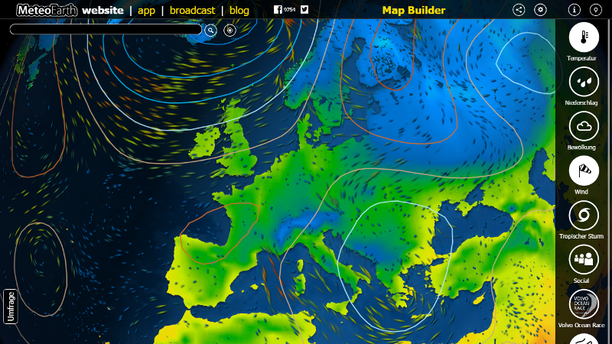 MeteoEarth.com Screenshot