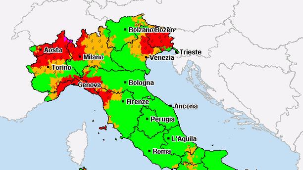 unwetter italien karte Italien kämpft mit Hochwasser   11/2014   Wetter24 Mobil