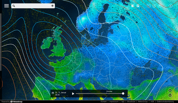 MeteoEarth.com Temperatur