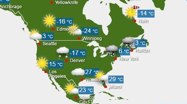 Wetter Usa