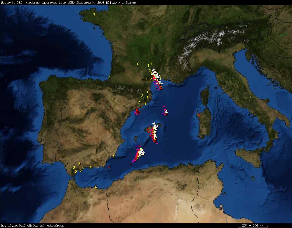 Unwetter Mallorca Karte.Unwetter Auf Mallorca 2017 News Wetter24 De