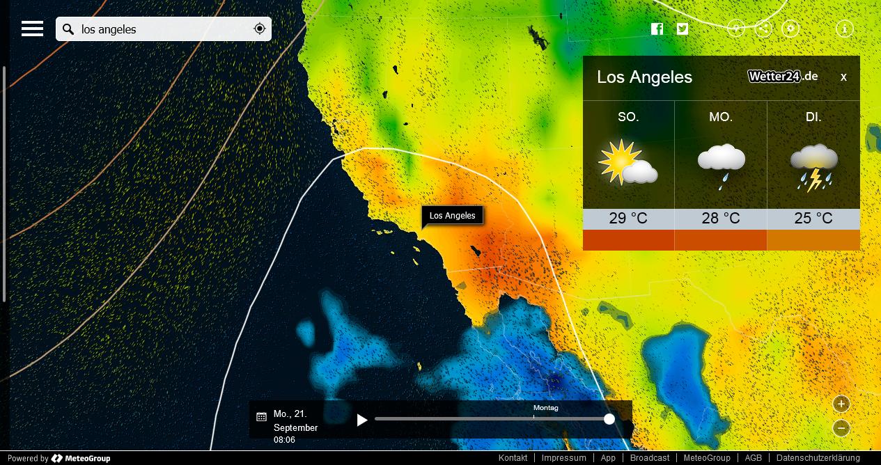 Kalifornien Wetter