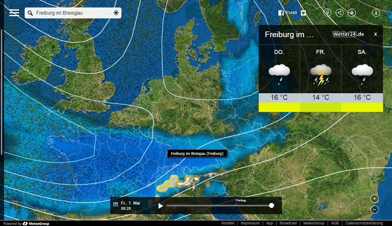 frankreich temperaturen mai