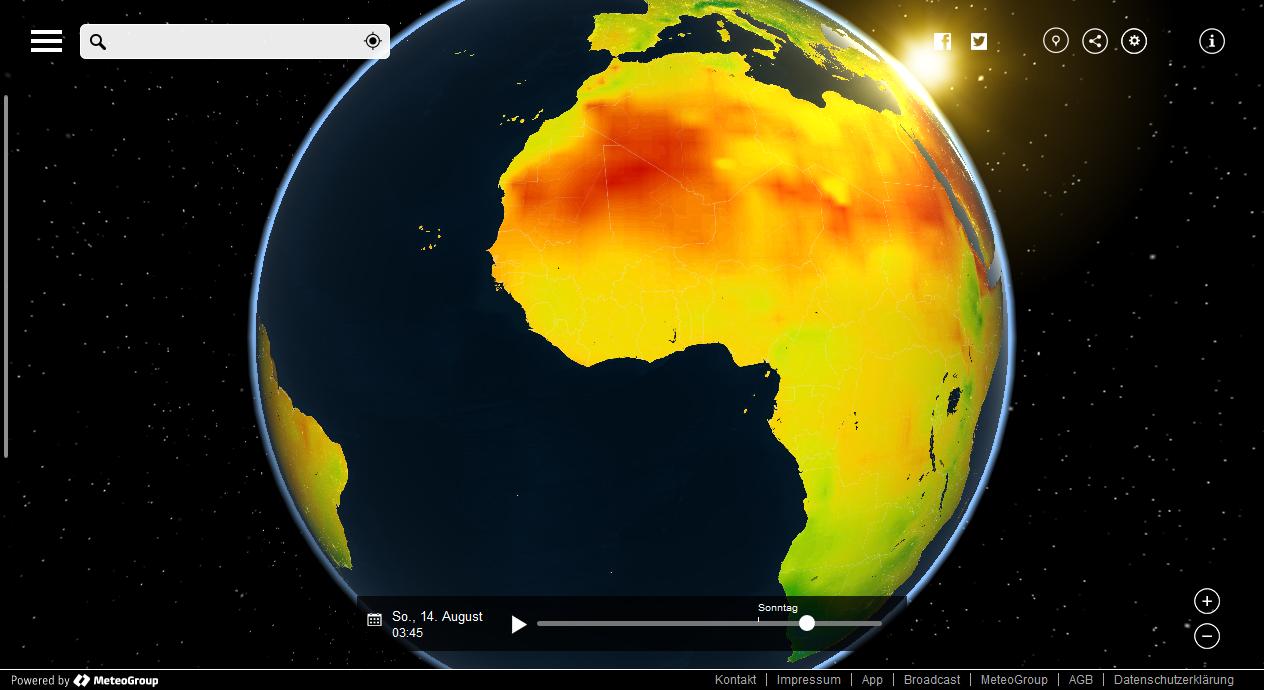 Juli 2016 Weltweit Wärmster Monat 2016 News Wetter24de
