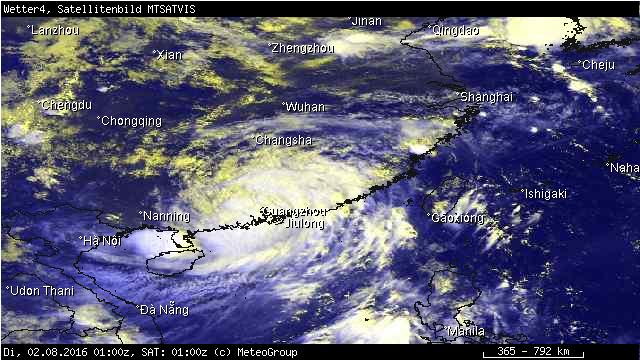 Höchste Alarmstufe in Südchina wegen Taifun